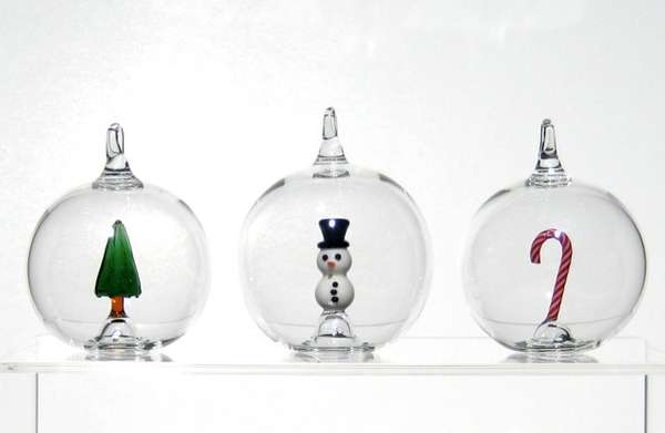 hand blown holiday spheres