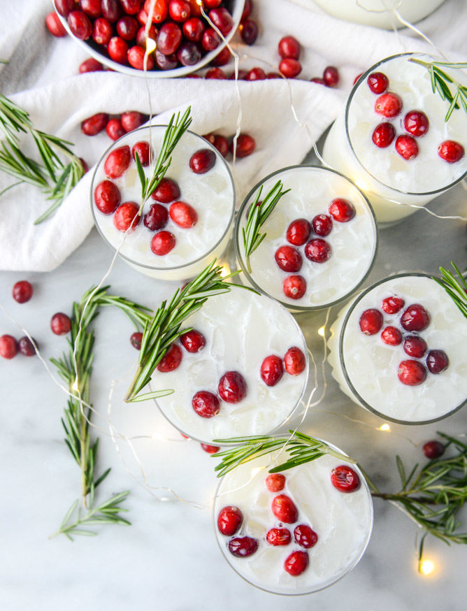 Coconut Cranberry Cocktails