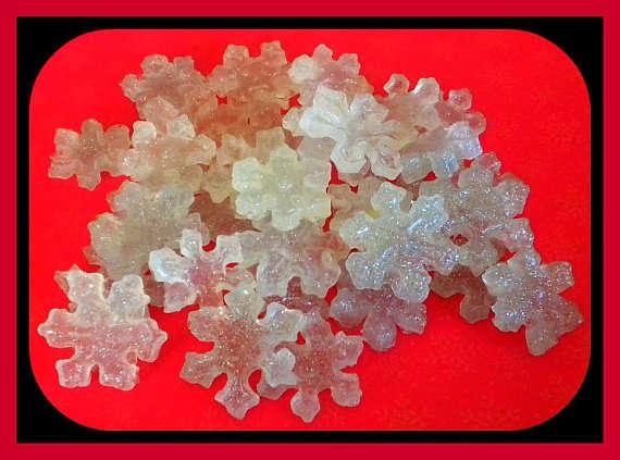 Sparkling Snowflake Soaps
