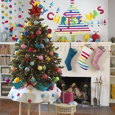 Lifelike Christmas Tree Stickers : Christmas Tree Decor
