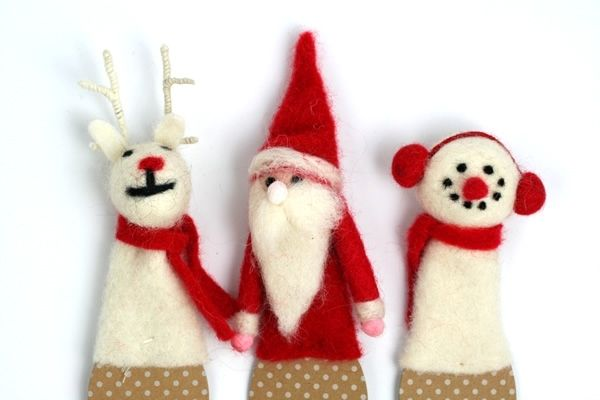 Festive Felt Bottle Toppers
