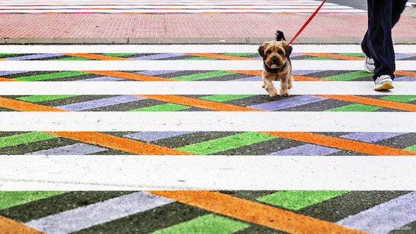 Vibrant Geometric Street Crossings