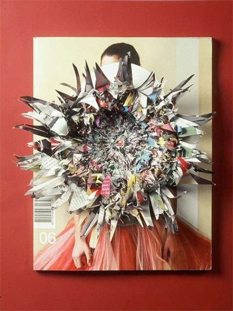 Shredded Magazine Art