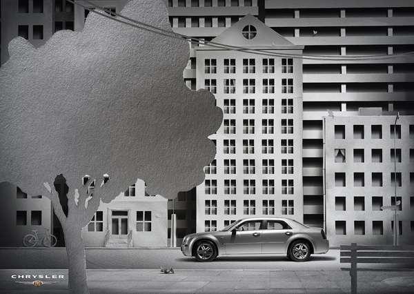 Papercraft Car Ads