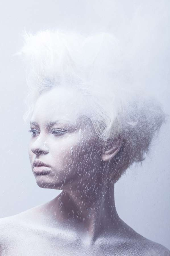 Washed-Out Powder Portraits