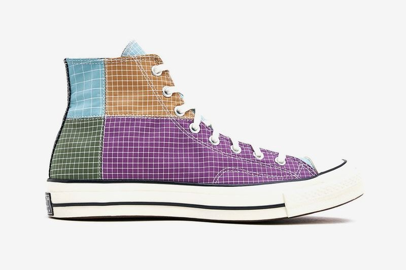 Colorblocked Casual High-Top Shoes