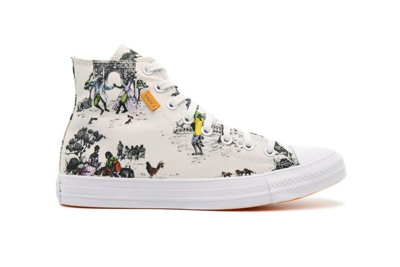 Tapestry-Themed Canvas Sneakers