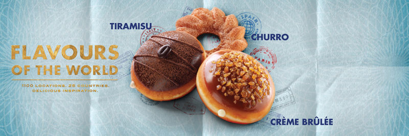 Internationally Inspired Donut Menus