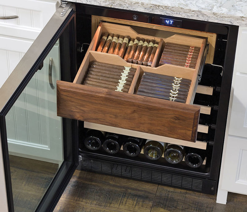 Cigar-Holding Wine Fridges