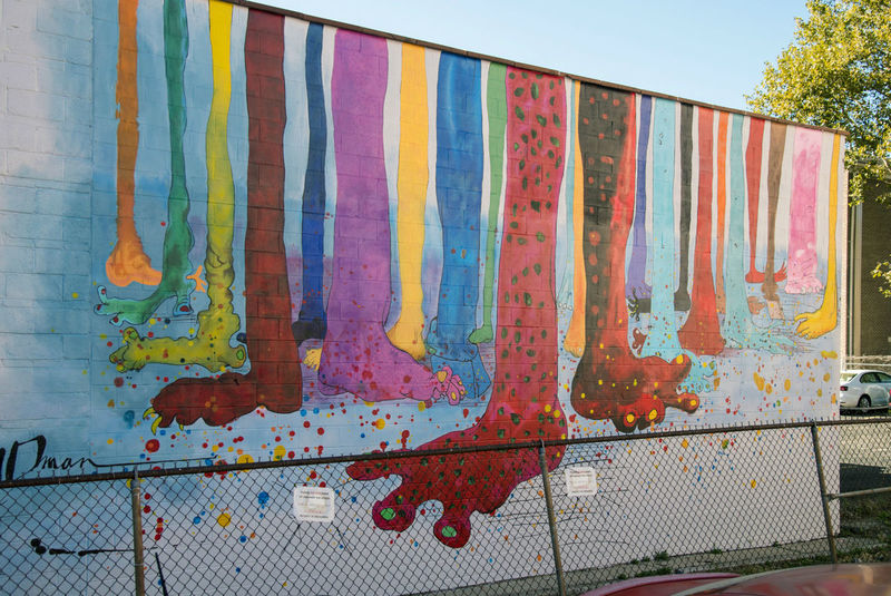 Color-Spattered City Murals
