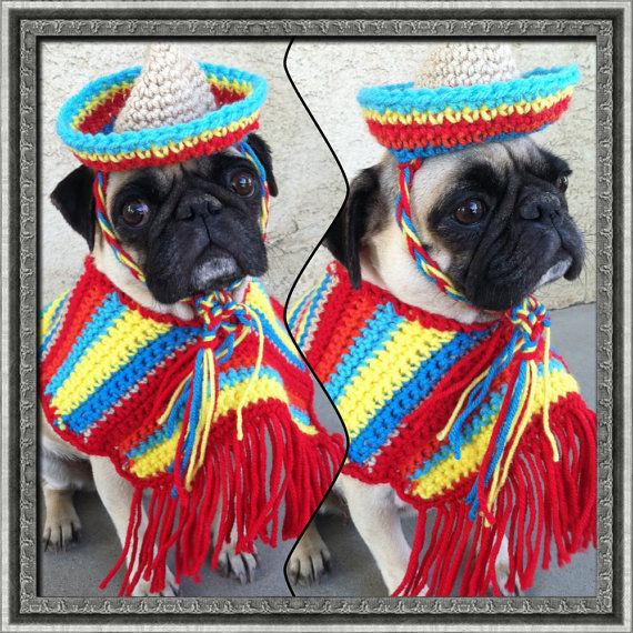 Festive Puppy Ponchos