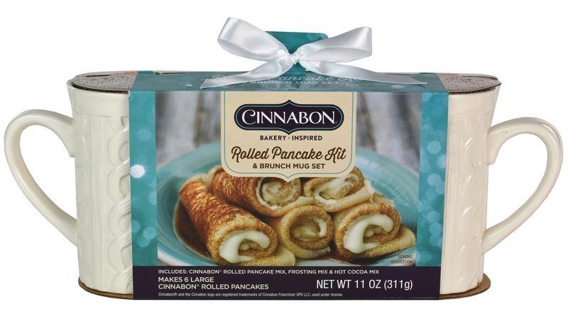 Rolled Cinnamon Bun Pancakes