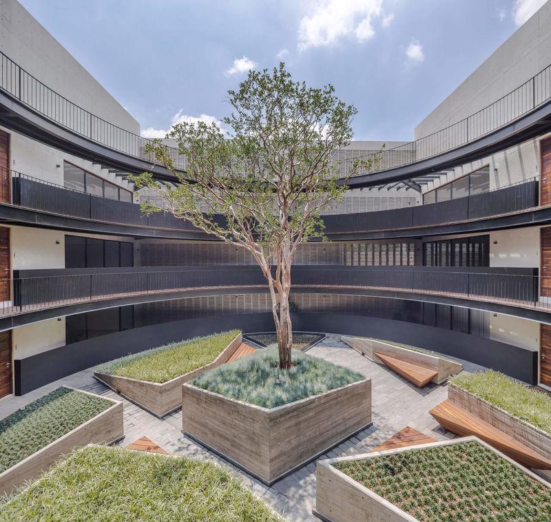 Beautiful Vegetative Circular Courtyards