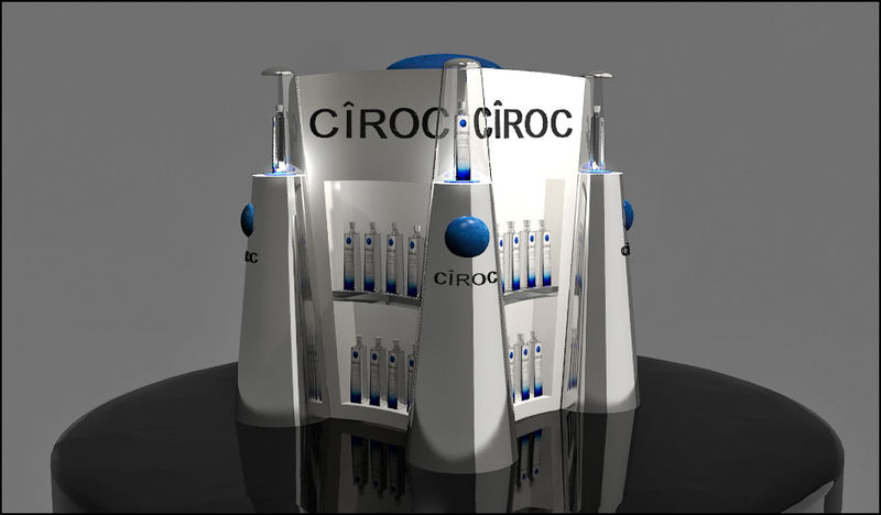 Architectural Vodka Displays