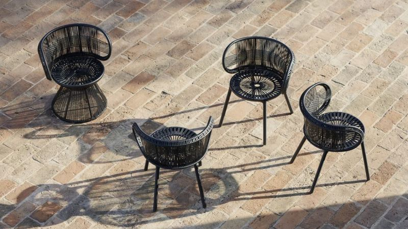 Geometrically Woven Outdoor Furniture