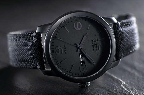 Starkly Monochromatic Timepieces