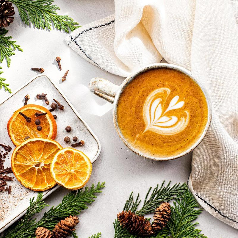 Spiced Citrus Holiday Lattees
