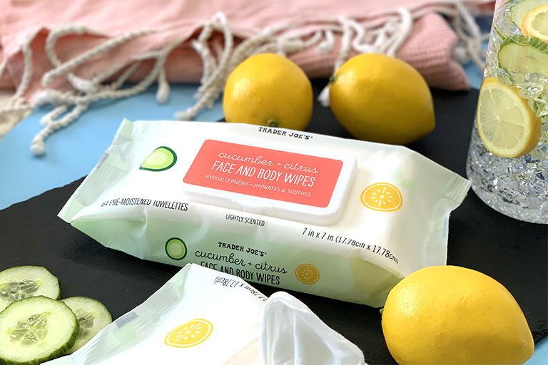 Citrus-Scented Facial Wipes