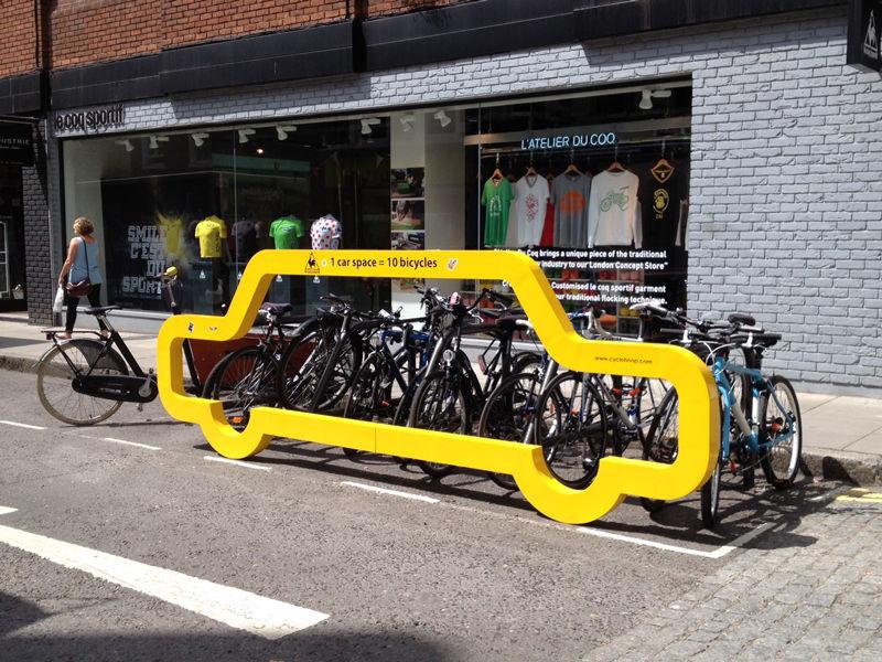 Driver-Shaming Bike Racks