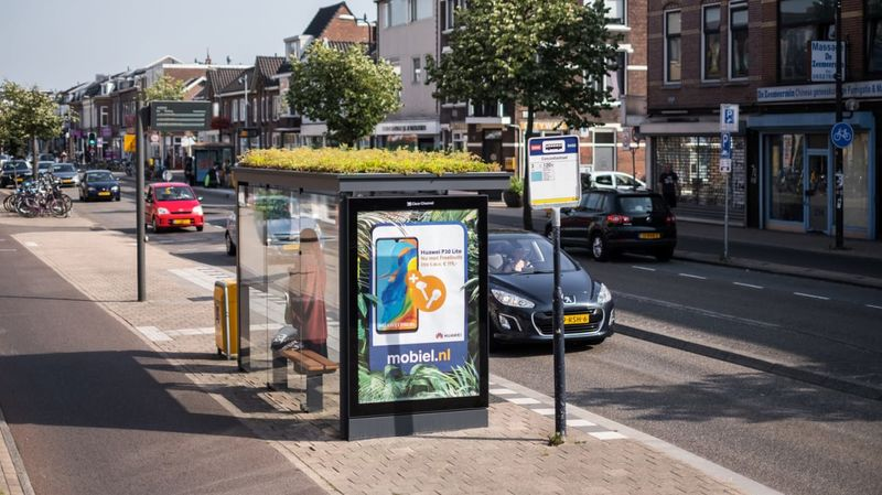 Green-Roofed Bus Shelters