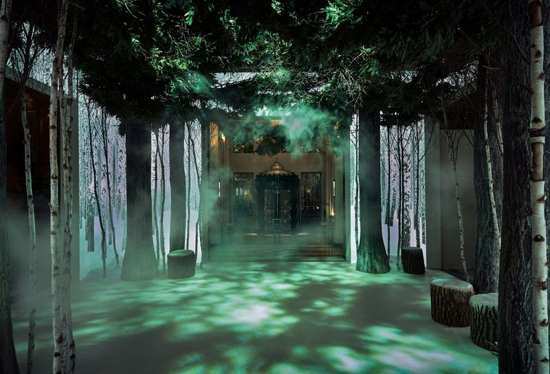 Immersive Holiday Tree Rooms