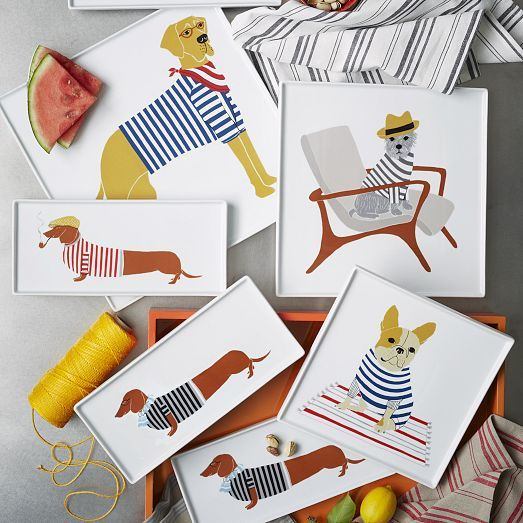 Charming Canine Dishware