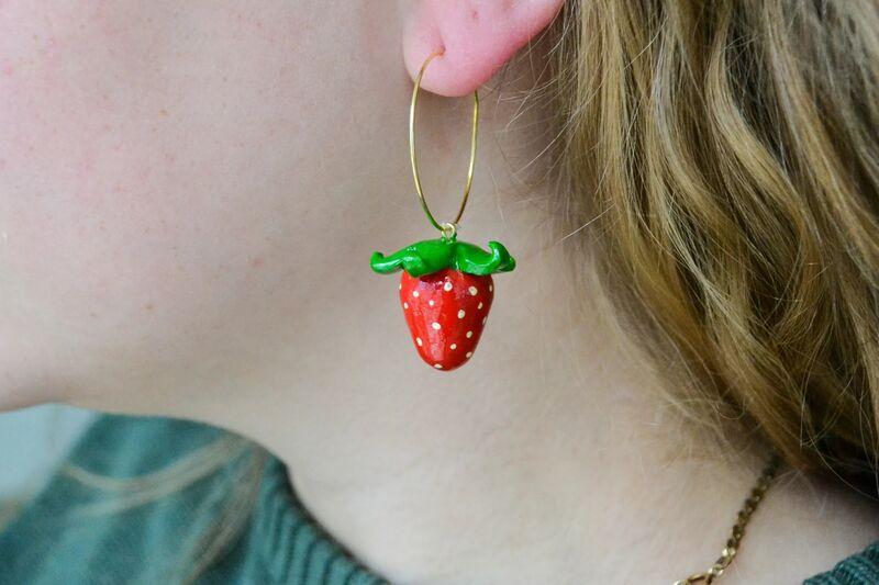 Fruit-Themed Clay Earrings