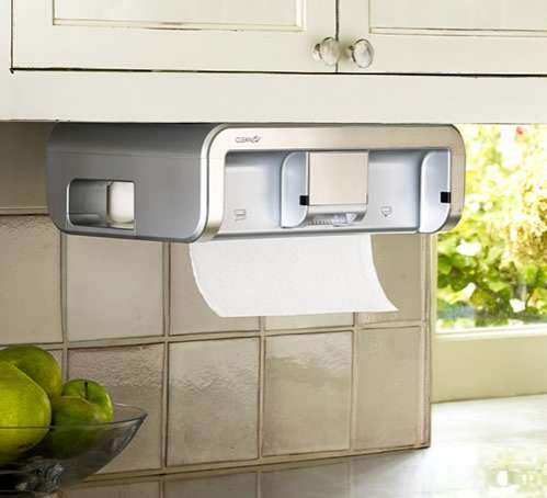 high tech kitchen necessities cleancut paper towel dispenser. Black Bedroom Furniture Sets. Home Design Ideas
