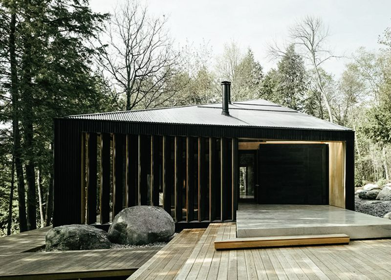 angular luxury cottages clear lake house rh trendhunter com cottages at clear lake review cottages at clear lake wasagaming mb