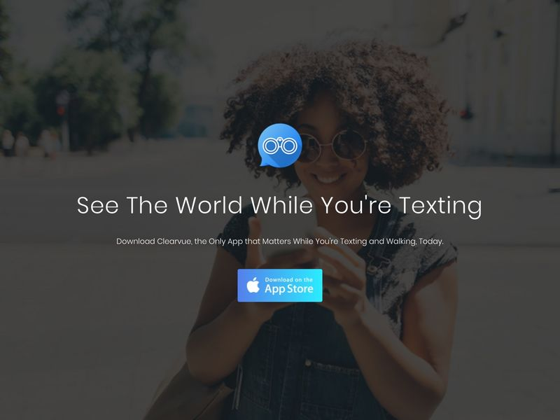 Walking-Friendly Text Apps