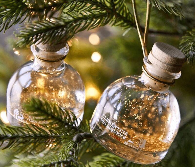 Gin-Filled Tree Ornaments