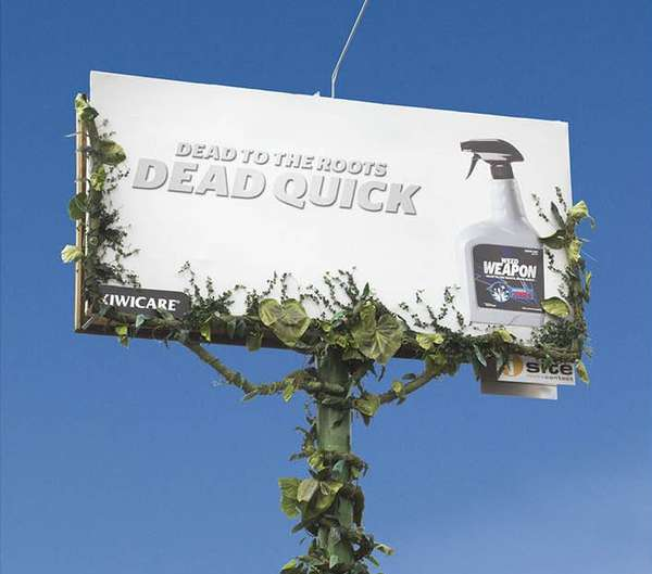 Weed-Eradicating Billboards