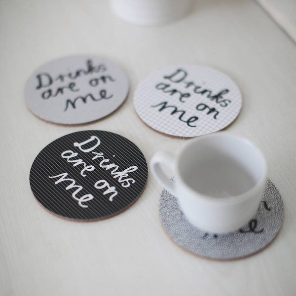 Hilariously Literal Drink Coasters