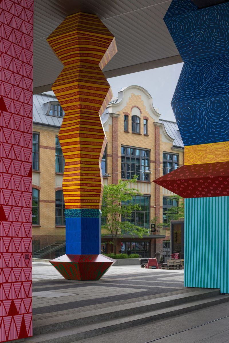 Colorful Climate Change-Inspired Totems