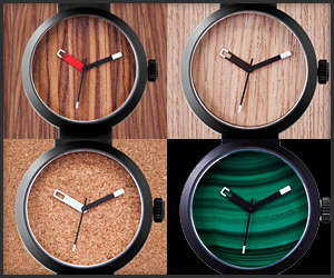 Earthy Minimalist Timepieces