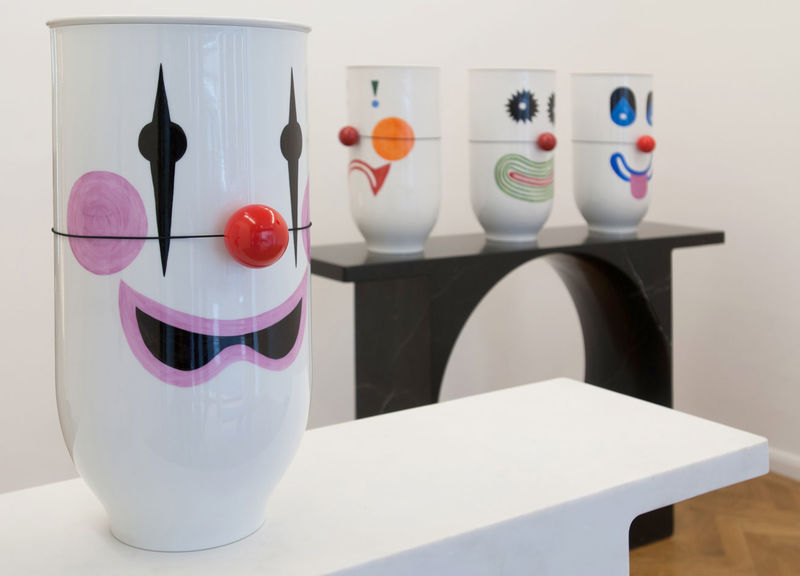 Marble-Made Clown Faces