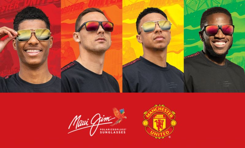 Premium Soccer-Themed Sunglasses - Maui Jim Launched the Club Collection with Manchester United (TrendHunter.com)