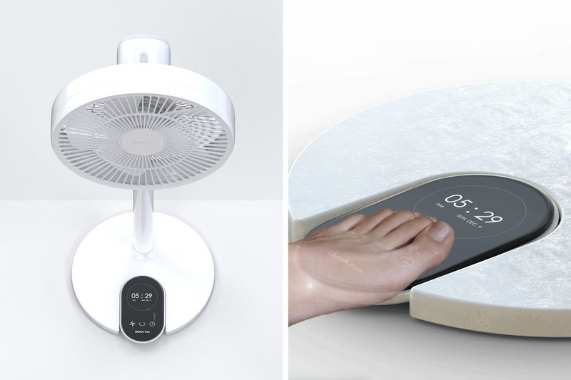 Pedal Control Cooling Fans