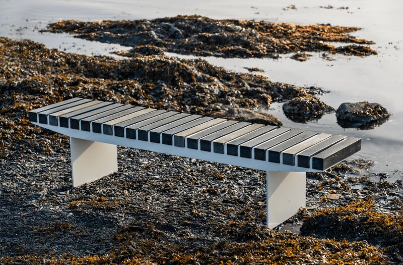 Ocean-Plastic Outdoor Benches