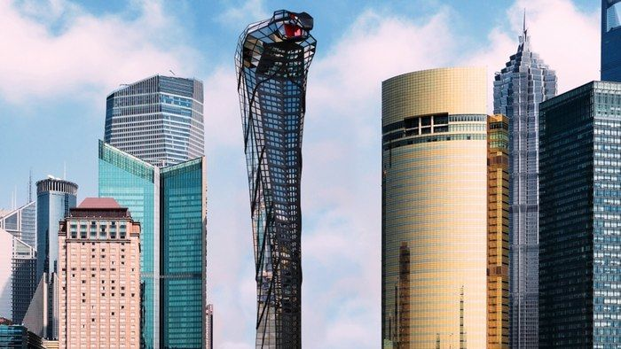 Serpent-Shaped Skyscrapers