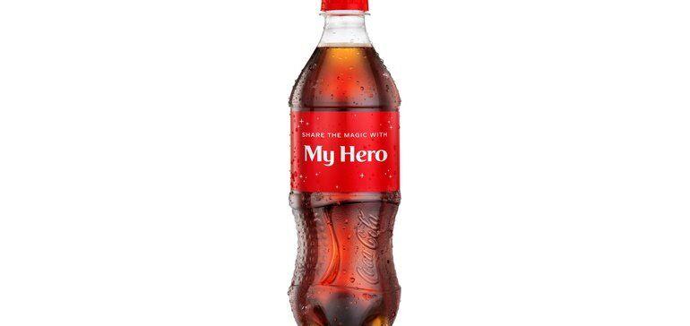 Hero-Saluting Soda Branding