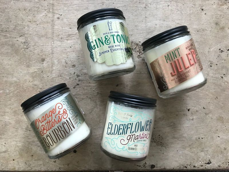 Retro Holiday Cocktail Candles
