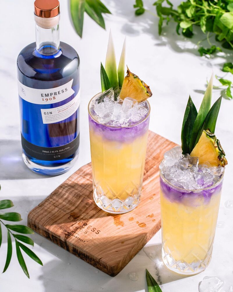 Color-Changing Gin-Enhanced Cocktails