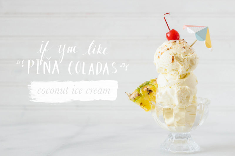 Pina Colada Ice Creams
