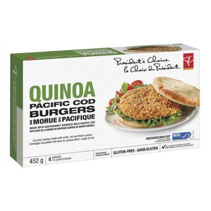 Quinoa-Coated Cod Burgers