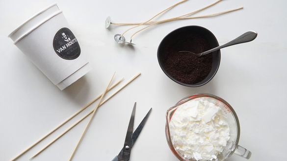 DIY Coffee Candles