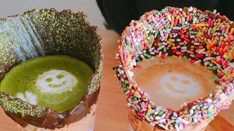 Coffee-Filled Dessert Cones