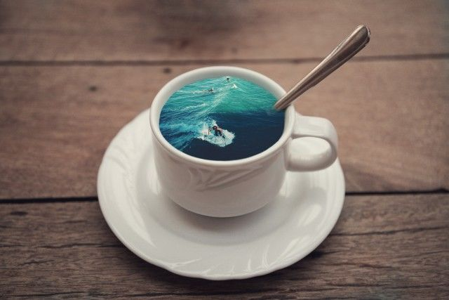 Surreal Coffee Cup Illustrations