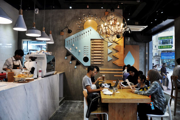 Cutlery-Adorned Cafes