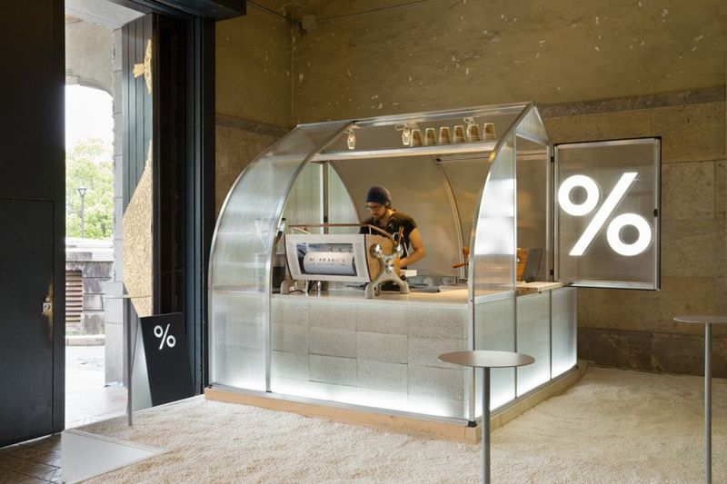 Translucent Coffee Kiosks